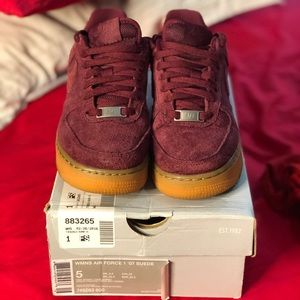 Nike women's Air Force 1s suede